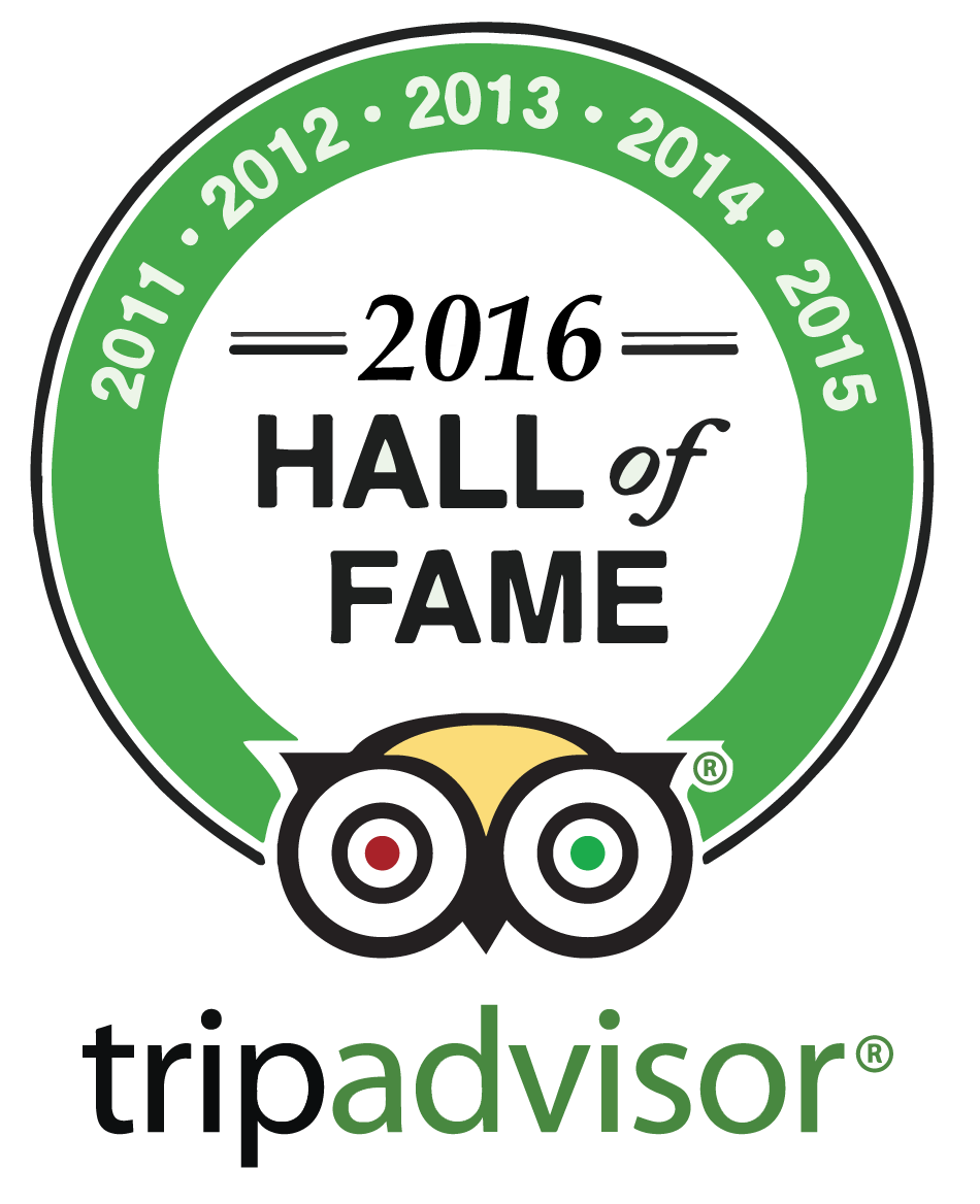 TripAdvisor Hall of Fame 2011, 2012, 2013, 2014 and 2015